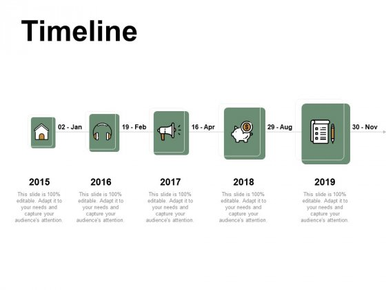 Timeline 2015 To 2019 Ppt PowerPoint Presentation Layouts Good