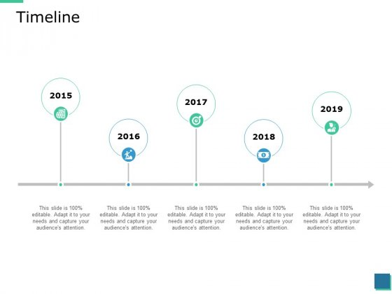Timeline 2015 To 2019 Ppt PowerPoint Presentation Outline Professional