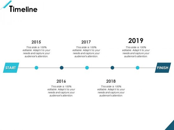 Timeline 2015 To 2019 Ppt PowerPoint Presentation Summary Graphics Example