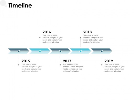 Timeline 2015 To 2019 Ppt PowerPoint Presentation Visual Aids Icon