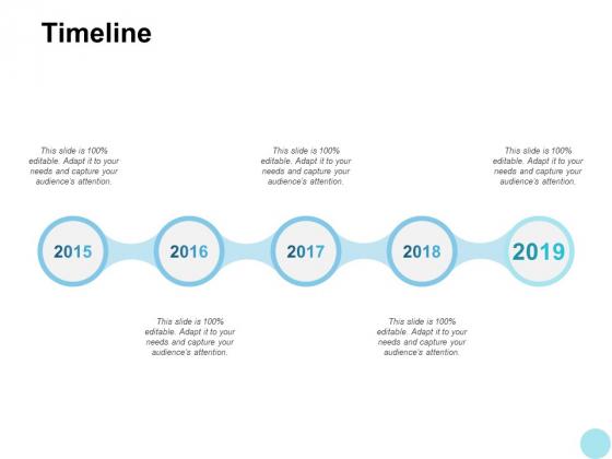 Timeline 2015 To 2019 Years Ppt PowerPoint Presentation Slides Skills