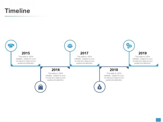 Timeline 2015 To 2019 Years Ppt PowerPoint Presentation Styles Show