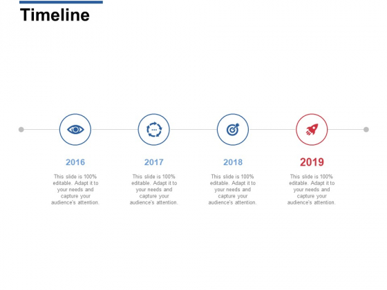 Timeline 2016 To 2019 Ppt PowerPoint Presentation Styles Aids