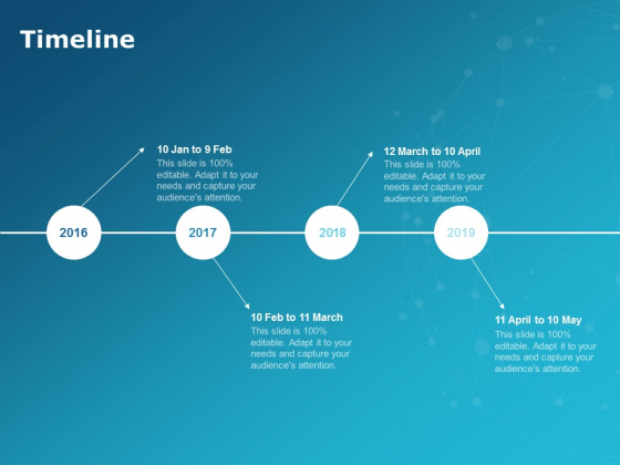 Timeline 2016 To 2019 Process Ppt PowerPoint Presentation Show Slide
