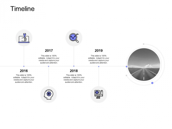 Timeline 2016 To 2019 Technology Ppt PowerPoint Presentation Icon Deck
