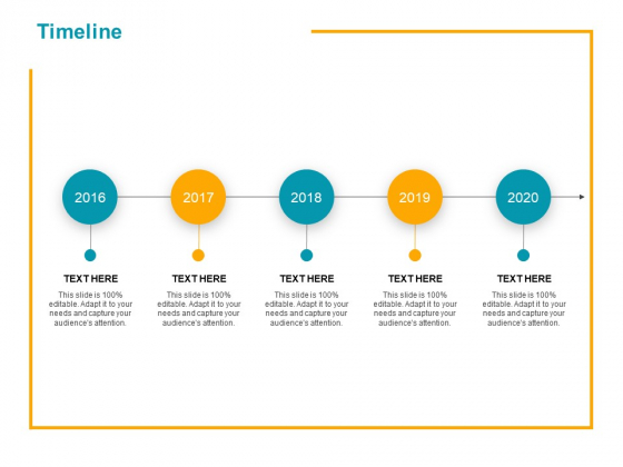 Timeline 2016 To 2020 Ppt PowerPoint Presentation Outline Topics