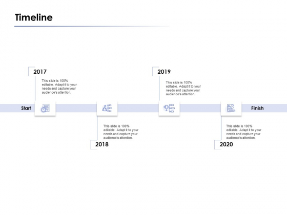 timeline 2017 to 2020 ppt powerpoint presentation layouts icon