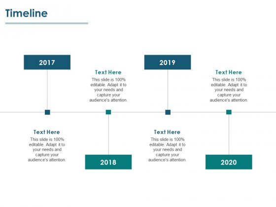 Timeline 2017 To 2020 Ppt PowerPoint Presentation Outline Layouts