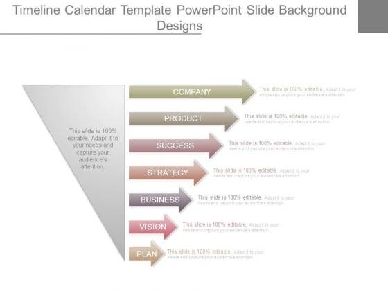 Timeline Calendar Template Powerpoint Slide Background Designs
