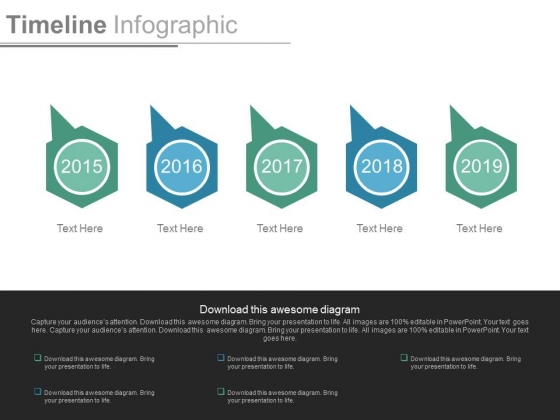 Timeline Design For Year Based Analysis Powerpoint Slides