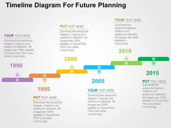 Timeline Diagram For Future Planning Powerpoint Templates