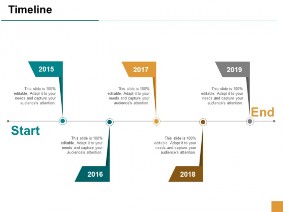 Timeline Five Year Process Ppt Powerpoint Presentation Icon Brochure