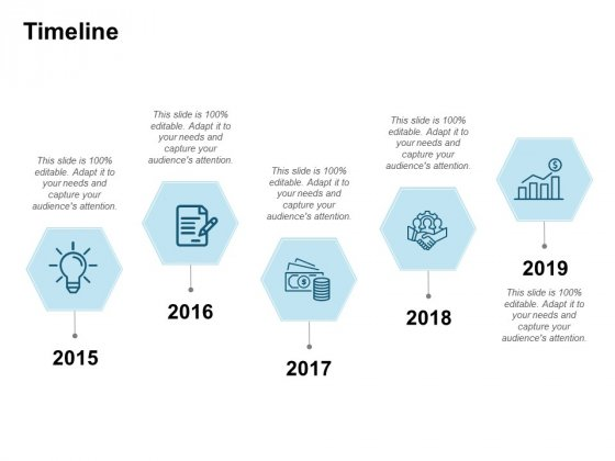 Timeline Five Year Process Ppt PowerPoint Presentation Ideas Gridlines