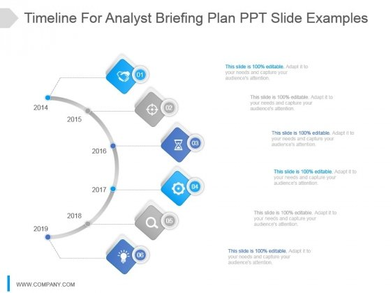 timeline for analyst briefing plan ppt slide examples powerpoint