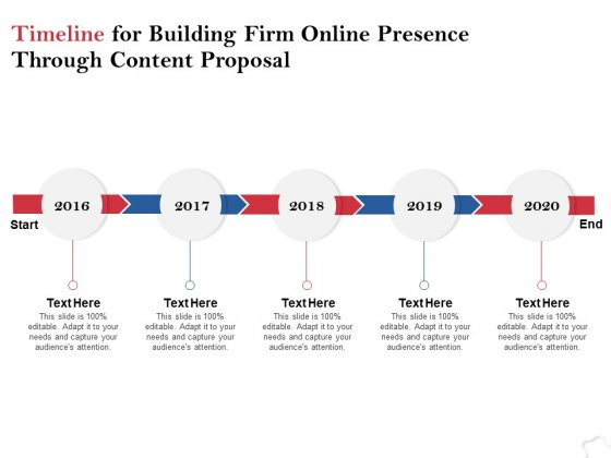 Timeline For Building Firm Online Presence Through Content Proposal Ppt PowerPoint Presentation Layouts Elements