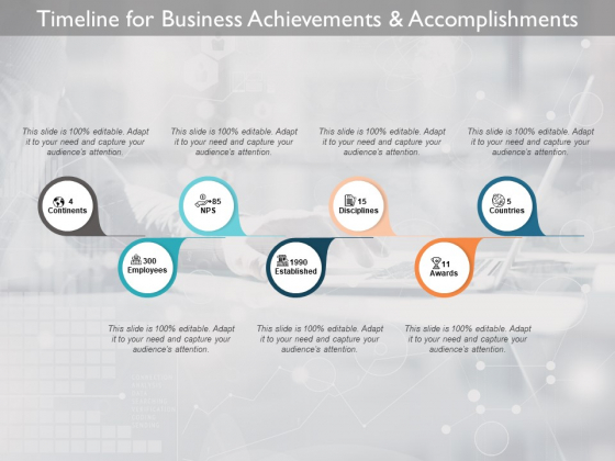 Timeline For Business Achievements And Accomplishments Ppt PowerPoint Presentation Icon Clipart