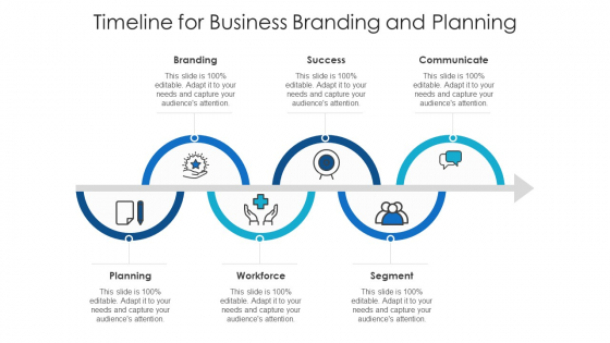 Timeline For Business Branding And Planning Ppt Ideas Template PDF