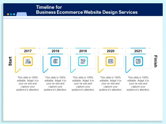 Timeline For Business Ecommerce Website Design Services Ppt PowerPoint Presentation Infographic Template Summary PDF