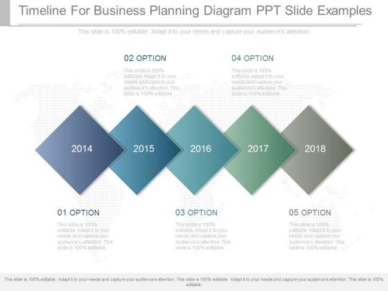 Timeline For Business Planning Diagram Ppt Slide Examples