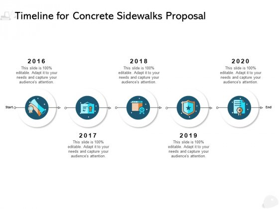 Timeline For Concrete Sidewalks Proposal Ppt PowerPoint Presentation Styles Display