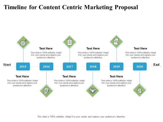Timeline For Content Centric Marketing Proposal Ppt PowerPoint Presentation Model Format