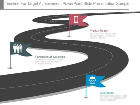 Timeline For Target Achievement Powerpoint Slide Presentation Sample