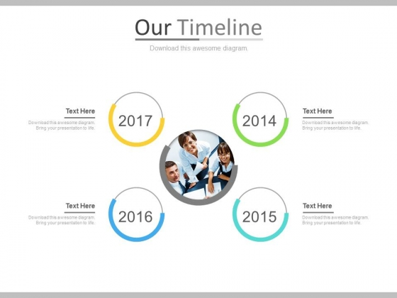 Timeline For Team Business Target Achievement Powerpoint Slides