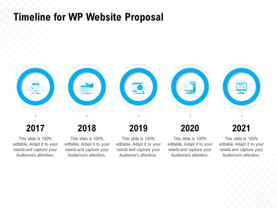 Timeline For WP Website Proposal Ppt PowerPoint Presentation Portfolio Objects