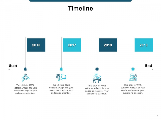Timeline Four Years Ppt Powerpoint Presentation Gallery Good