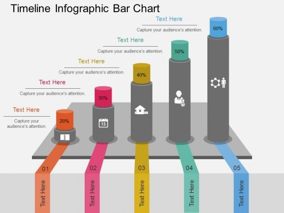 Timeline Infographic Bar Chart Powerpoint Template