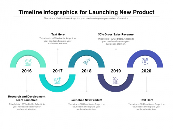 Timeline Infographics For Launching New Product Ppt PowerPoint Presentation Ideas Infographics