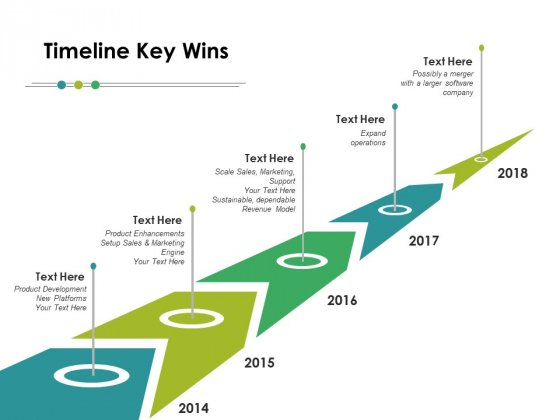 Timeline Key Wins Ppt PowerPoint Presentation Layouts Layout
