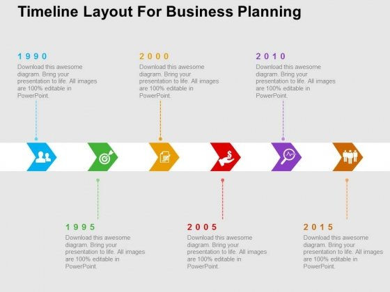 Timeline Layout For Business Planning PowerPoint Templates