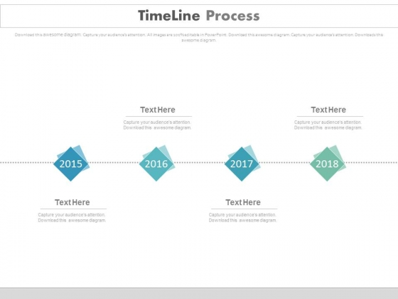 Timeline Linear Process With Years Powerpoint Slides