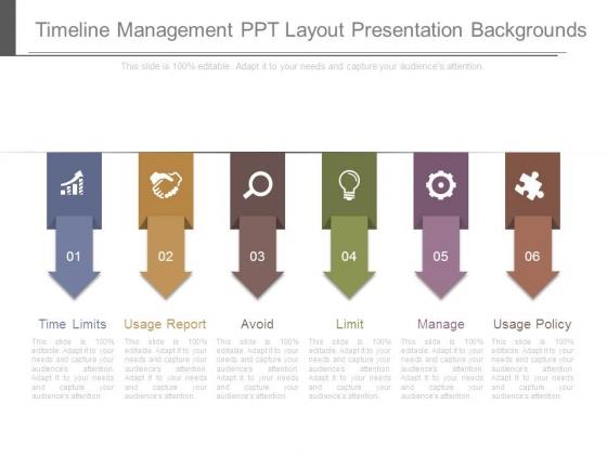 Timeline Management Ppt Layout Presentation Backgrounds