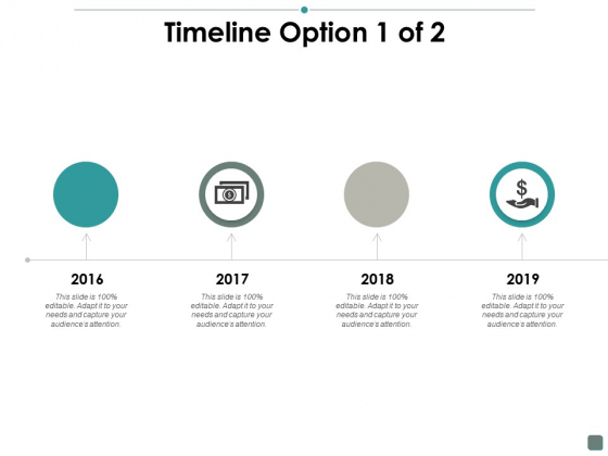Timeline Option 1 Of 2 Contribution Ppt PowerPoint Presentation Example 2015
