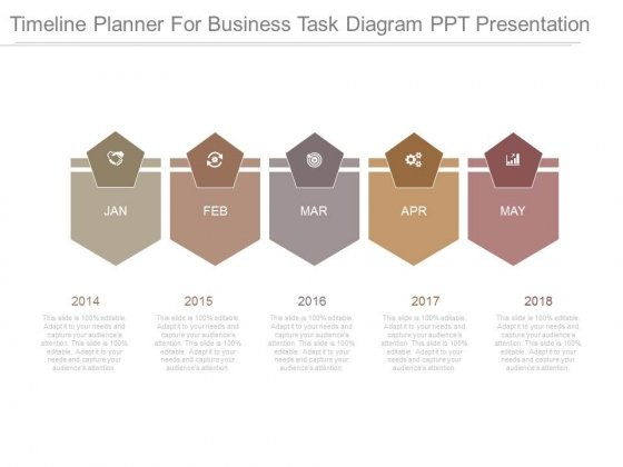 Timeline Planner For Business Task Diagram Ppt Presentation
