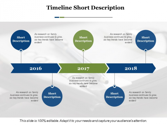 Timeline Short Description Ppt PowerPoint Presentation Infographic Template Graphics