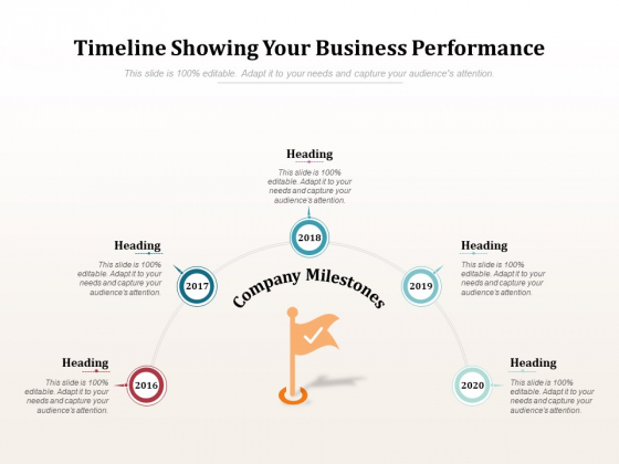 Timeline Showing Your Business Performance Ppt PowerPoint Presentation Layouts Graphics Pictures
