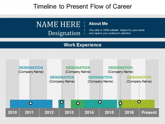 Timeline To Present Flow Of Career Ppt PowerPoint Presentation Inspiration Designs Download