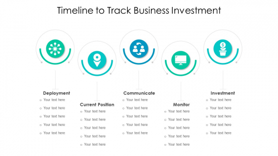 Timeline To Track Business Investment Ppt Gallery Infographics PDF