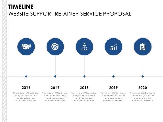Timeline Website Support Retainer Service Proposal Ppt PowerPoint Presentation Model Layout