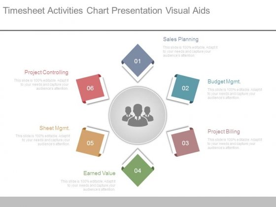 timesheet activities chart presentation visual aids powerpoint