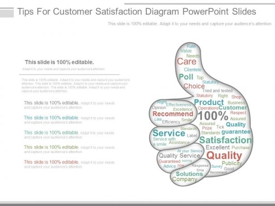Tips For Customer Satisfaction Diagram Powerpoint Slides