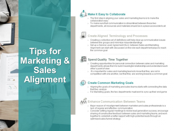 Tips For Marketing And Sales Alignment Marketing Goals Ppt PowerPoint Presentation Summary Influencers