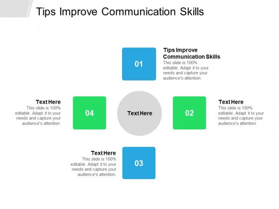 Tips Improve Communication Skills Ppt PowerPoint Presentation Professional Layouts Cpb