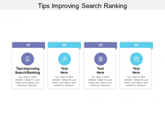 Tips Improving Search Ranking Ppt PowerPoint Presentation Summary Design Inspiration Cpb