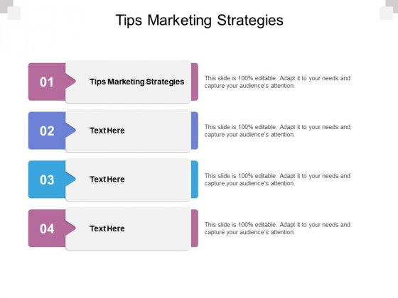 Tips Marketing Strategies Ppt PowerPoint Presentation File Infographic Template Cpb