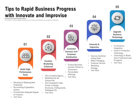 Tips_To_Rapid_Business_Progress_With_Innovate_And_Improvise_Ppt_PowerPoint_Presentation_File_Design_Templates_PDF_Slide_1
