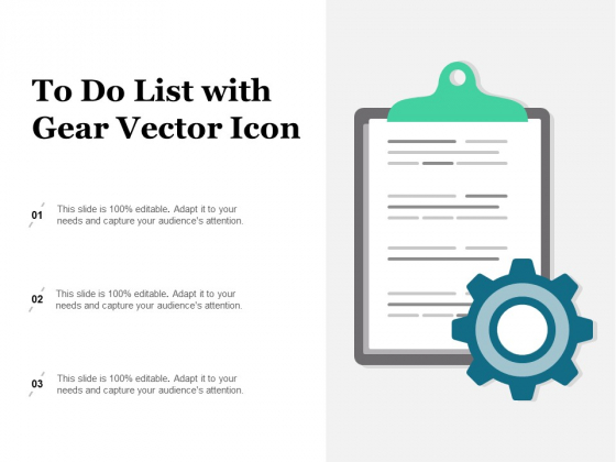 To Do List With Gear Vector Icon Ppt PowerPoint Presentation Infographic Template Infographics